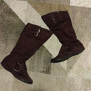 Maurices Brown Suede Boots 6